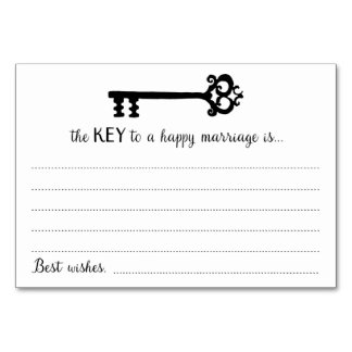 The Key to a Happy Marriage Cards Table Cards