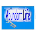 The Key to Abundant Life v2 (John 10:10) Greeting Cards