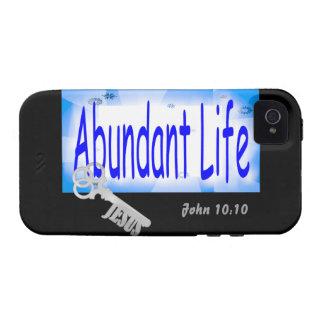 The Key to Abundant Life v2 (John 10:10) iPhone 4 Case
