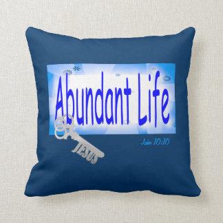 The Key to Abundant Life v2 (John 10:10) Pillow