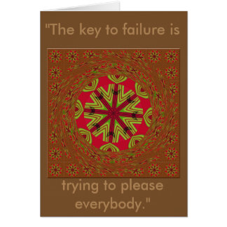 The Key to Failure African Traditional Design card
