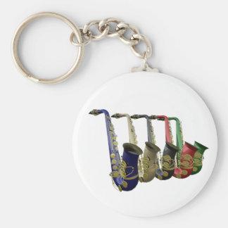 The Key To Good Saxophone Music Keyring Keychain