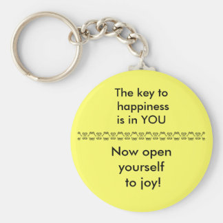 THE KEY TO HAPPINESS - keychain