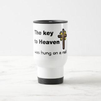 The key to Heaven was hung on a nail Christian Travel Mug