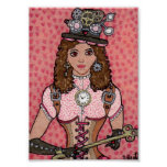 The Key to Her Steampunk Heart Poster