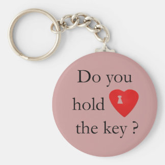 The key to my heart basic round button keychain