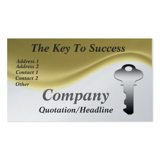 The key to success business cards zazzle for Successful business cards