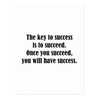 The Key To Success Postcard