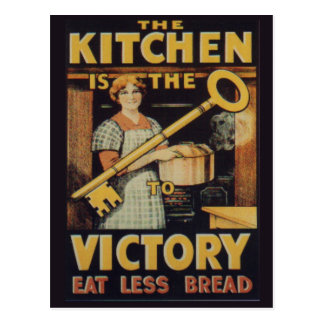 The Key to Victory; Eat less bread Postcard