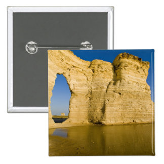 The Keyhole of the Monument Rocks aka Chalk Pinback Button