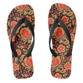 The Khokhloma Kulture Pattern Flip Flops