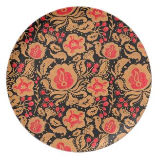 The Khokhloma Kulture Pattern Melamine Plate
