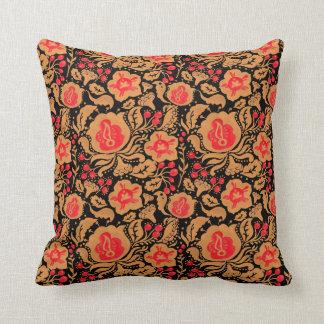 The Khokhloma Kulture Pattern Throw Pillow