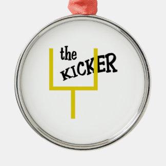 The Kicker Metal Ornament