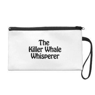 the killer whale whisperer wristlet clutch