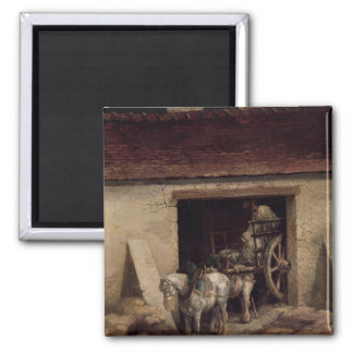 The Kiln at the Plaster Works 2 Inch Square Magnet