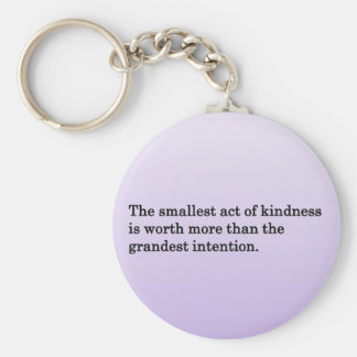The Kindness of Others Basic Round Button Keychain