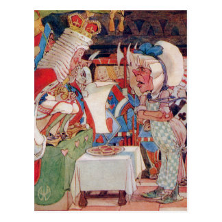 THE KING AND QUEEN OF HEARTS QUESTIONS THE COOK POSTCARD