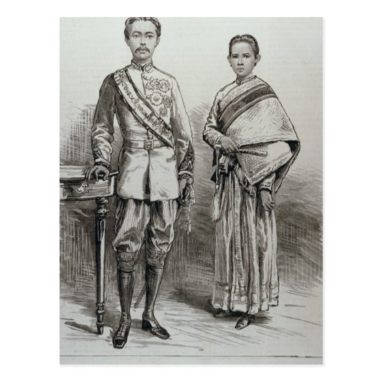 The King and Queen of Siam Postcard