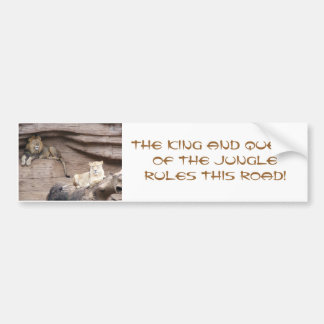 The King AND Queen of the Jungle Bumper Sticker