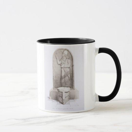 The King and Sacrificial Altar, Nimrud, plate 4 fr Mug
