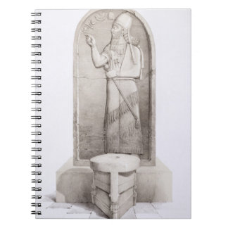 The King and Sacrificial Altar Nimrud plate 4 fr Note Book