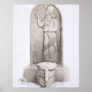 The King and Sacrificial Altar, Nimrud, plate 4 fr Print