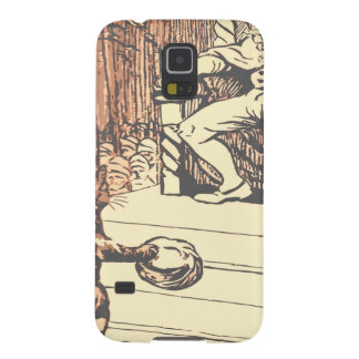 The king and the cat with boots case for galaxy s5