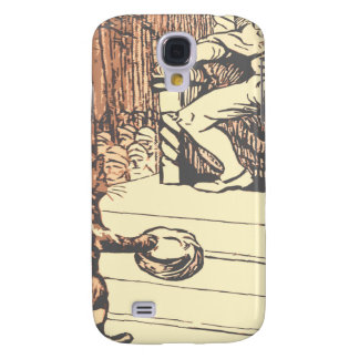 The king and the cat with boots samsung galaxy s4 cover