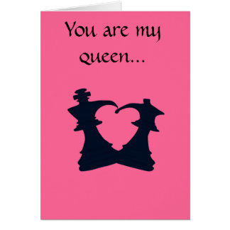 The king and the queen are in love card
