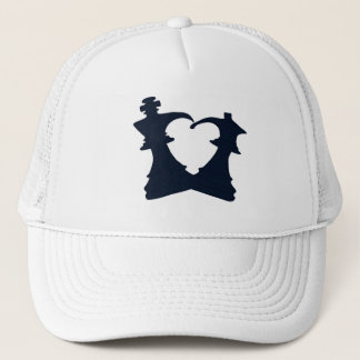 The king and the queen are in love trucker hat
