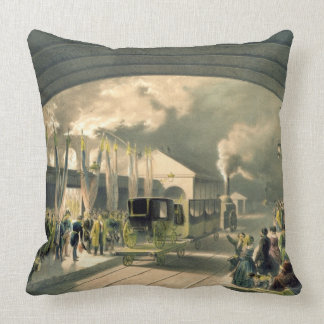 The King at New Cross Station (litho) Throw Pillow