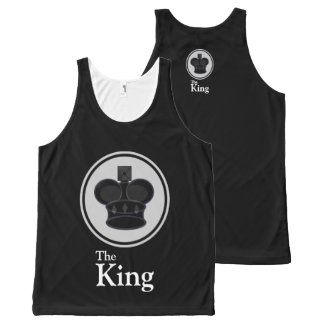 The King Black All-Over-Print Tank Top