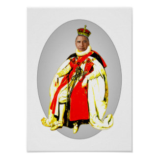 The King Carnival Cutout Poster