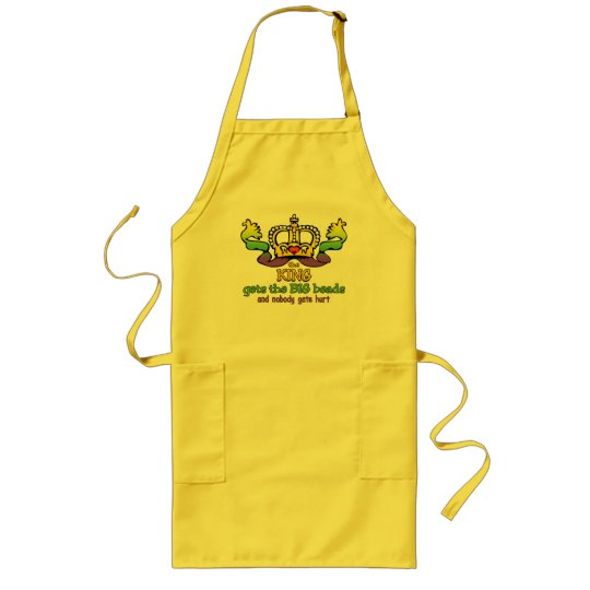 The King gets the BIG beads Long Apron