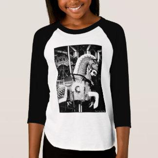 'The King Horse' Girl's 3/4 Sleeve Raglan T-shirt