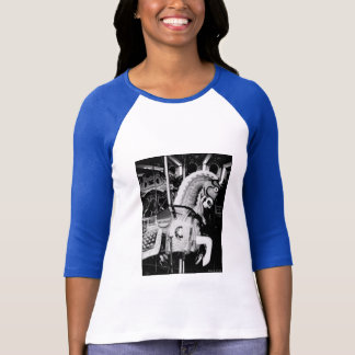 'The King Horse' Ladies' 3/4 Slve Raglan T-shirt