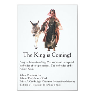 The King is coming Christmas Invitation