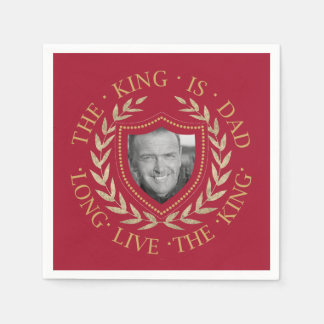 The King is Dad Photo Template ID181 Napkin