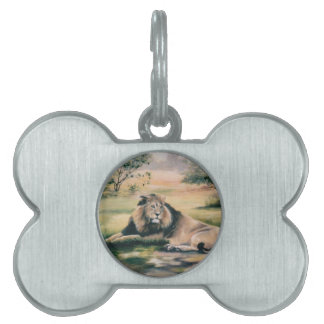 The King Lion Pet ID Tags