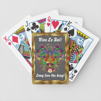 The King  Mardi Gras View Notes Please Bicycle Card Deck