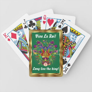 The King  Mardi Gras View Notes Please Bicycle Poker Deck