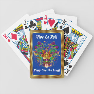 The King  Mardi Gras View Notes Please Bicycle Card Decks