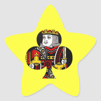 The King of Clubs Star Sticker
