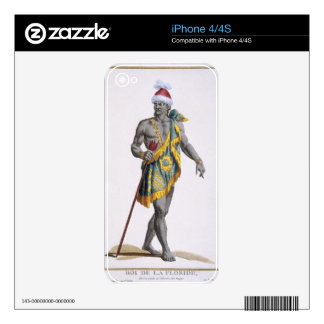 The King of Florida, 1780 (coloured engraving) iPhone 4S Skin