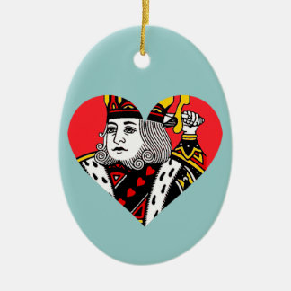 The King of Hearts Ceramic Ornament
