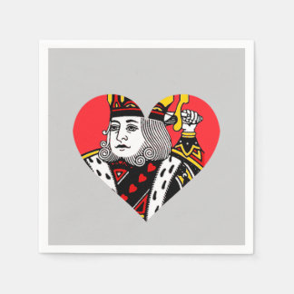 The King of Hearts Standard Cocktail Napkin