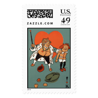 The King of Hearts Postage Stamps