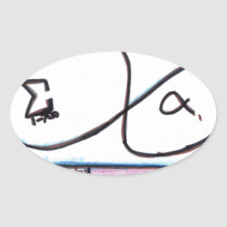 The King of Infinite Pattern Oval Sticker