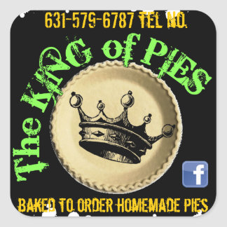 the king of pies pie box labels square sticker